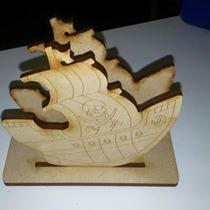 Servilletero Barco Pirata