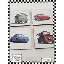 Souvenir Memotests Personalizado Madera 8x8cm Disney Cars