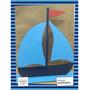Souvenir Aplique Personaliza Madera 30cm Náutico Barco Bote