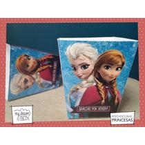 Souvenir Personalizado Cumple Caja Pochoclera Frozen Disney