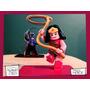 Souvenir Personaliza Madera 30cm Heroe Mujer Maravilla Lego