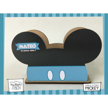 Servilletero Evento Personalizado Madera Disney Mickey Raton