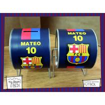 Alcancía Giratoria Souvenir Personalizada Futbol Barcelona