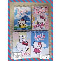 10 Anotadores Personalizado Hello Kitty 40 Hojas Souvenir