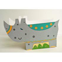 Souvenir Infantil Caja Rinoceronte Original Para Cumpleaños!