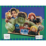 Servilletero Evento Personalizado Madera Héroes Lego Avenger