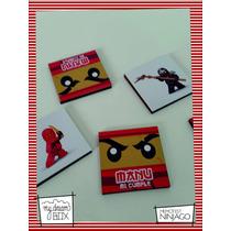 Souvenir Memotests Personaliza Madera 8x8cm Ninjago Lego