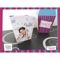 Souvenir Evento Personalizado Caja Golosinas Cumple Violeta