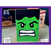 Lapicero Madera Souvenir Personaliza Heroe Lego Hulk Avenger