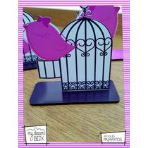 Souvenir Evento Aplique Personalizad Madera 10cm Pájaro Ave