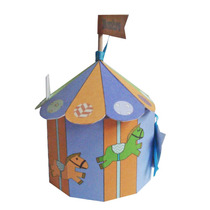 Souvenir Cumpleaños Infantil Caja Carrousel,calesita,circo!