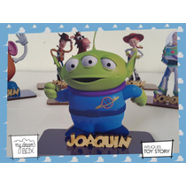 Souvenir Evento Personaliza Madera 10cm Toy Story Marciano