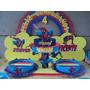 Centro De Mesa Spiderman,piñata,golosineros,souvenirs