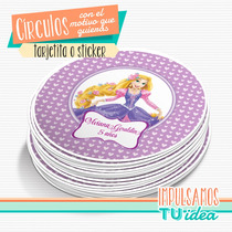 Rapunzel - Tarjetita Souvenir Para Imprimir