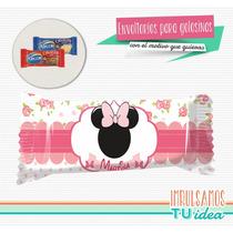 Minnie - Envoltorio Chocolatín Minnie Shabby Para Imprimir