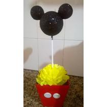 Mickey Brillante Personalizados Centros De Mesa Numero Gibre