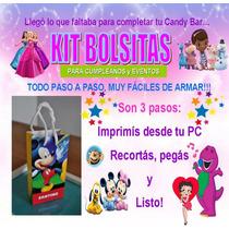 Kit Bolsitas Personalizadas Para Candy Bar Y Cotillón