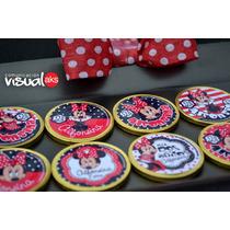 Golosinas Personalizadas Minnie Y Mickey Combo 60 Unidades!!