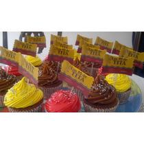Toppers Cupcakes O Brochette Golosinas-personalizados - X12
