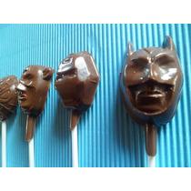 Paleta Chocolate Superheroes Batman Hombre Araña Ironman Cap