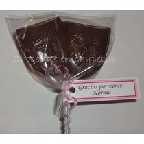 12 Chupetines De Chocolate Mascara Teatro