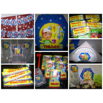 Manny A La Obra - Candy Bar Premium Completo Para 20 Niños