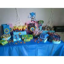 Sonic - Candy Bar Premium Completo Para 20 Niños