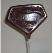 12 Chupetines De Chocolate Superman Superheroe Souvenirs