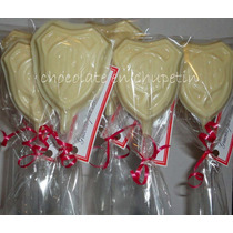 12 Chupetines De Chocolate Escudo De River Souvenirs