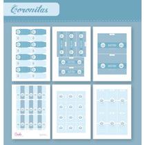 Coronitas P/varón - Kit P/imprimir Con Texto Editable!!