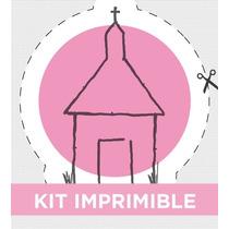 Kit Imprimible Personalizado Para Bautismo Y Comunión Nena