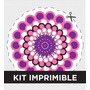 Kit Imprimible Flores Personalizado Para Cumple