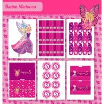 Kit Para Imprimir En Casa! Barbie Mariposa