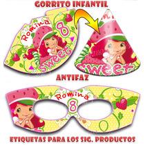 Kit Imprimilble Frutillita Diseñá Tarjetas , Cumples Y Mas