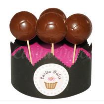 10 Chupetines De Chocolate Pelota De Futbol Cumple Souvenir