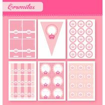 Coronitas P/nena - Kit P/imprimir Con Texto Editable!!