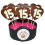 10 Chupetines De Chocolate Con Numeros Cumple Aniversario !!