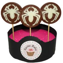 Chupetines De Chocolate Araña Ideal Spiderman Hombre Araña!!