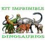 Kit Imprimible Dinosaurios Cumpleaños Tarjetas Invitaciones