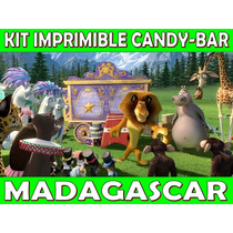 Kit Imprimible Candy Bar Madagascar Golosinas Personalizadas