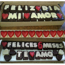 Enamorados, Mensaje De Chocolate, Bombones , Corazones