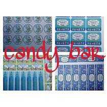 Etiquetas Sticker Adhesivos Para Candy Bar Pack Envio Gratis
