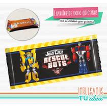 Transformers Rescue Bots - Envoltorio Rodhesia Para Imprimir