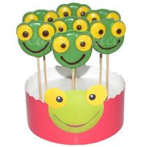 10 Chupetines Sapo Pepe En Colores Con Los Rasgos Definidos!