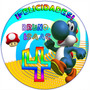 Kit Imprimible Yoshi Mario Bross Invitaciones Fiesta