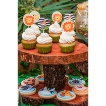 Candy Bar C/ Cookies, Cupcakes Y Golosinas - Animales Selva