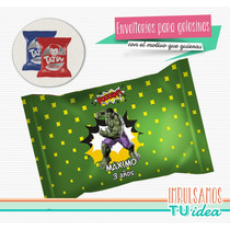 Increíble Hulk - Envoltorio Alfajor Para Imprimir