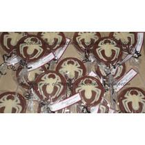 12 Chupetines Chocolate Araña Hombre Araña Spiderman