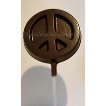 12 Chupetines De Chocolate Simbolo De La Paz