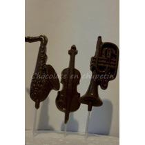 12 Chupetines De Chocolate Instrumentos Musicales Musica